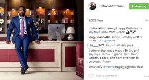 Grow with grace- Ubi Franklin tells Iyanya in birthday message